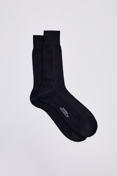 Pedro del Hierro Plain dress socks Brown