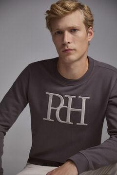 Pedro del Hierro Crew neck sweatshirt Grey