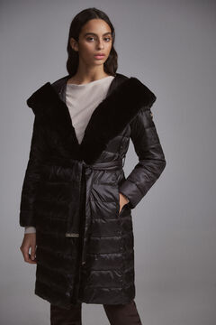Pedro del Hierro Reversible fur parka Black