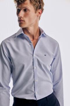 Pedro del Hierro Plain non-iron stain-resistant shirt Blue