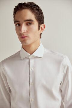 Pedro del Hierro Camisa de vestir estructura slim non-iron Blanco