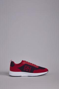 Pedro del Hierro Sneaker pele sola borracha Vermelho