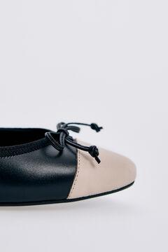 Pedro del Hierro Zapato tipo bailarina piel Negro