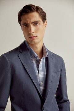 Pedro del Hierro Cotton jacket, washed linen Blue