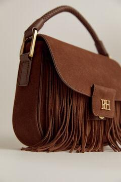 Pedro del Hierro Suede leather shoulder bag Brown