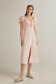 Pedro del Hierro Viscose linen dress Pink