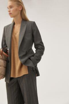 Pedro del Hierro False double-breasted blazer Grey