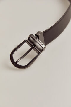 Pedro del Hierro Reversible leather dress belt Black