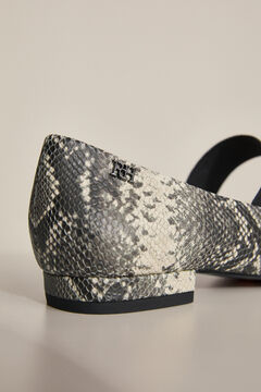 Pedro del Hierro Leather ballet flat Grey