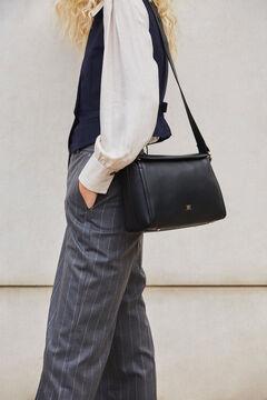 Pedro del Hierro Leather crossbody bag Black
