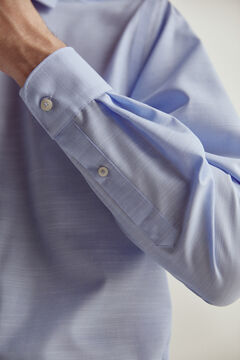 Pedro del Hierro Plain non-iron dress shirt Blue