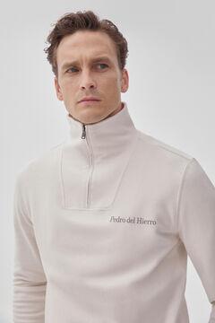 Pedro del Hierro Sweatshirt de gola semicisne Ecru