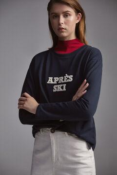 Pedro del Hierro Sweatshirt com gola caixa e de manga comprida Azul