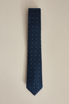 Pedro del Hierro Two-tone polka-dot tie Blue