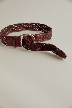 Pedro del Hierro Woven leather belt Brown