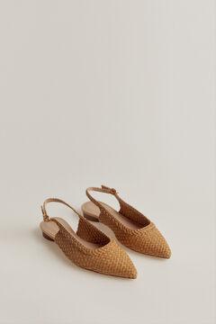 Pedro del Hierro Plaited shoe Beige