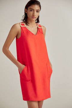 Pedro del Hierro Tunic dress with buckles Red