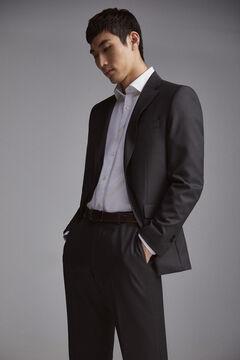 Pedro del Hierro Tailored fit birdseye trousers Grey