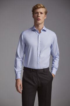 Pedro del Hierro Camisa de vestir gemelos Tech-Non Iron tailored Azul