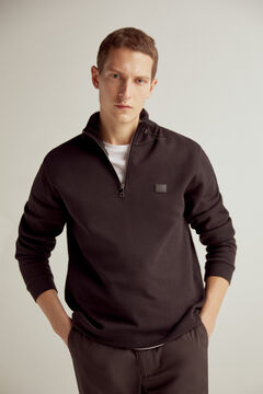 Pedro del Hierro Half-zip turtleneck sweatshirt Black