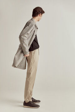 Pedro del Hierro Checked trench coat Beige