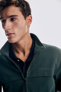 Pedro del Hierro Sweatshirt fecho-éclair Verde