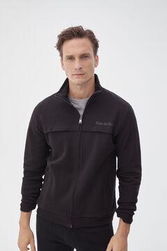 Pedro del Hierro Sweatshirt fecho-éclair Preto