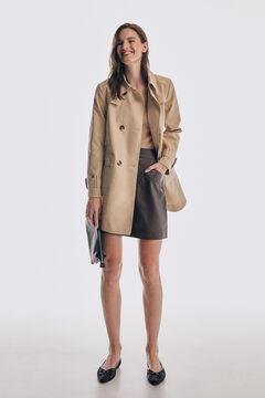 Pedro del Hierro Nappa A-line skirt Brown