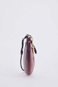 Pedro del Hierro Leather baguette bag Red