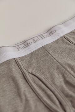 Pedro del Hierro Plain jersey-knit boxers Grey