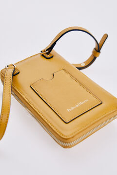 Pedro del Hierro Mobile bag with round pin Yellow