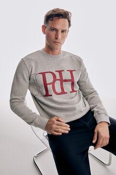 Pedro del Hierro Logo print sweatshirt Grey
