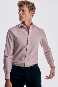Pedro del Hierro Plain soft Non-Iron cotton shirt Red