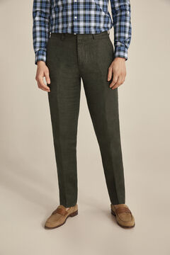 Pedro del Hierro Regular fit linen trousers separates Green