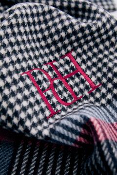 Pedro del Hierro Houndstooth scarf Black