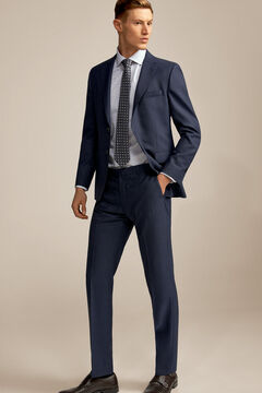 Pedro del Hierro Blue micro design tailored fit trousers Blue