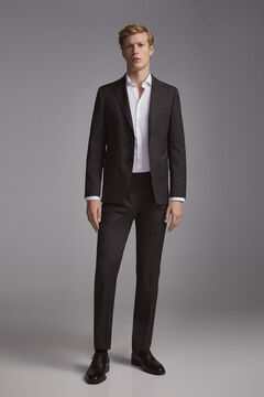 Pedro del Hierro Tailored fit blue trousers Grey