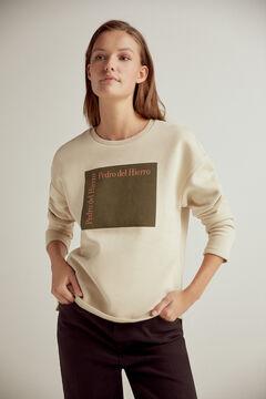Pedro del Hierro Sweatshirt logo algodão orgânico Marrom