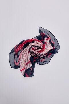 Pedro del Hierro Printed logo shawl Red