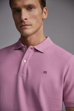 Pedro del Hierro Short-sleeved PdH logo polo shirt Pink