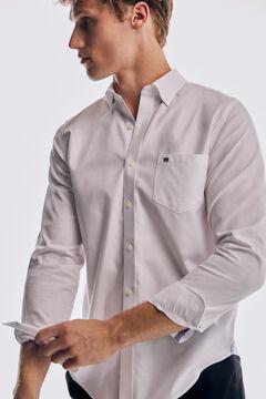 Pedro del Hierro Tech non-iron cotton Oxford shirt White