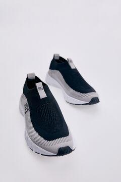 Pedro del Hierro Slip-on recycled sneaker Black