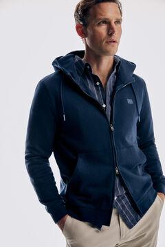 Pedro del Hierro Sweatshirt com capuz Azul