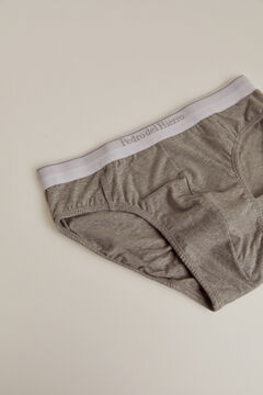 Pedro del Hierro Plain jersey-knit briefs Grey