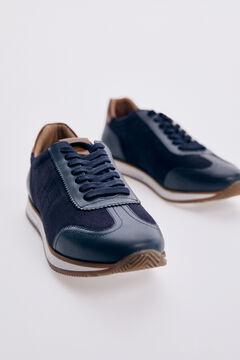 Pedro del Hierro Icon sneaker with rubber sole  Blue