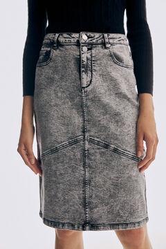 Pedro del Hierro Denim skirt Grey