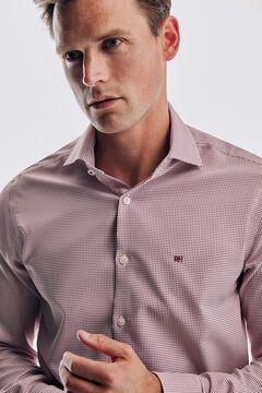 Pedro del Hierro Plain non-iron stain-resistant shirt Red