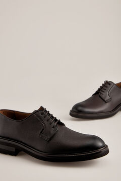 Pedro del Hierro Embossed leather blucher shoe Brown