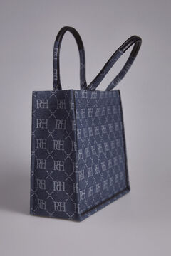 Pedro del Hierro Denim square tote bag Blue