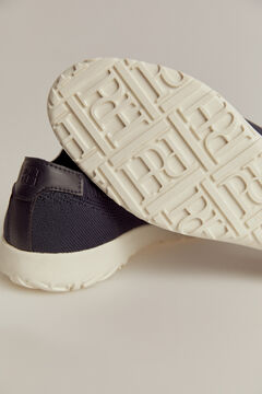 Pedro del Hierro Rubber-soled lace-up sneaker Blue